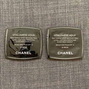 Chanel Vitalumiere Aqua 30 Beige Samples x 2 New